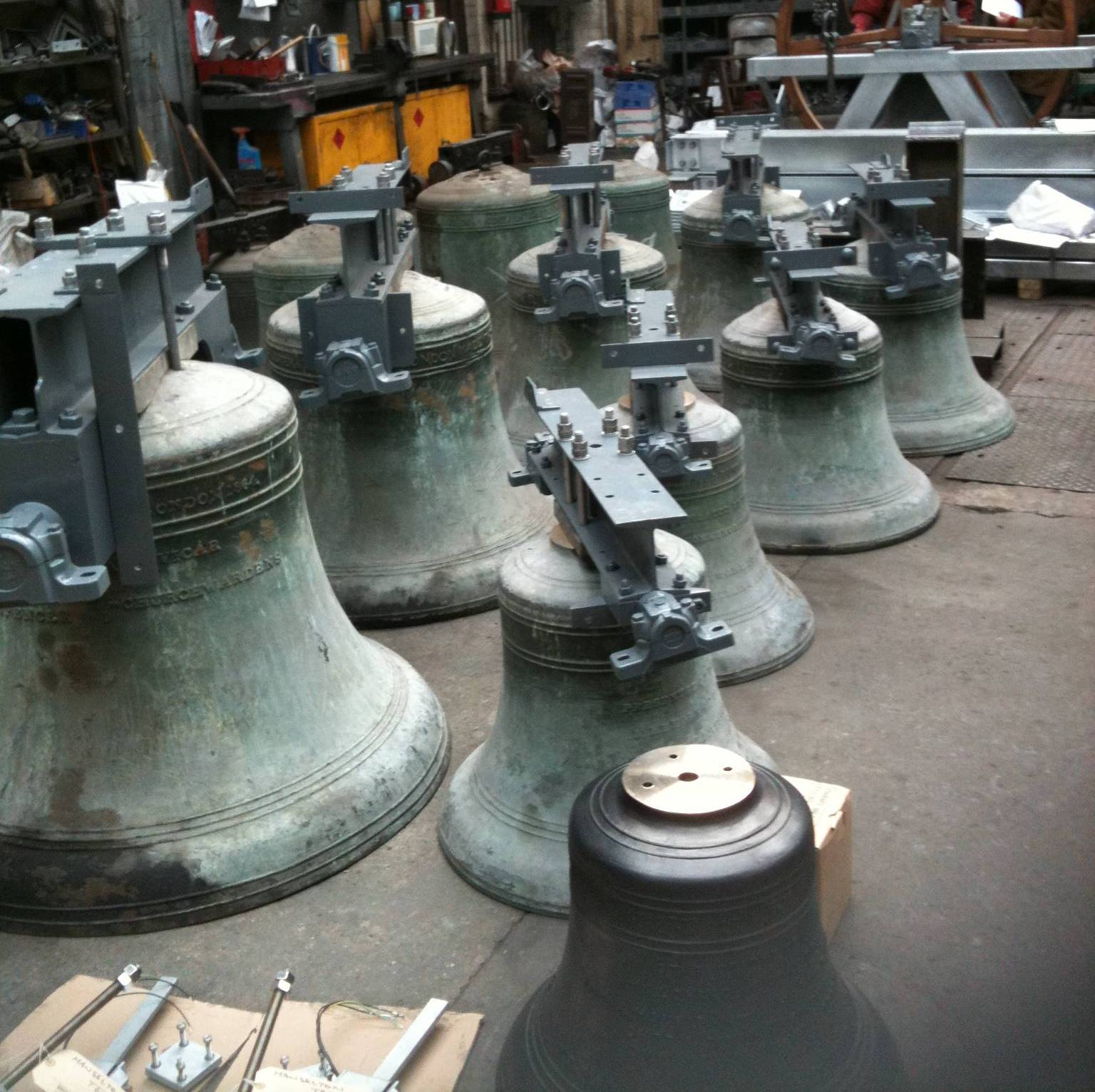 Bells in a workshop